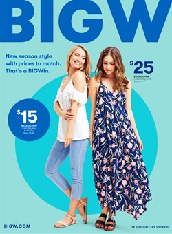 Department Stores offers in the BIG W catalogue in Brisbane QLD
