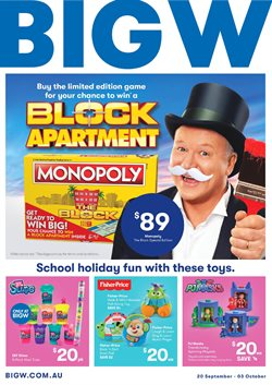 Department Stores offers in the BIG W catalogue in Mandurah WA