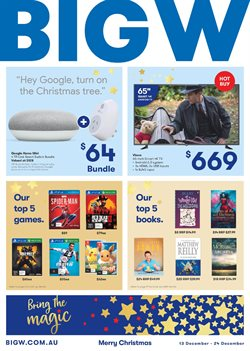 Department Stores offers in the BIG W catalogue in Sandstone Point QLD