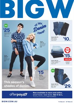 Department Stores offers in the BIG W catalogue in Baldivis WA
