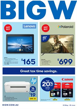 Offers from BIG W in the Adelaide SA catalogue