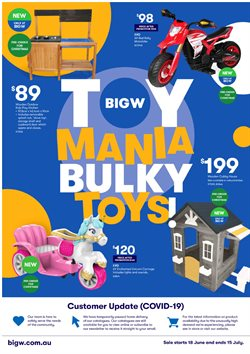 Department Stores offers in the BIG W catalogue ( 9 days left )