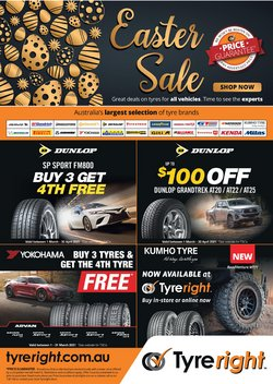 Easter specials in the Tyreright catalogue ( 13 days left)