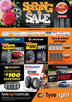 Cars, Motorcycles & Spares specials in the Tyreright catalogue ( More than one month)