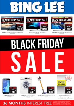 Electronics & Appliances offers in the Bing Lee catalogue in Canberra ACT