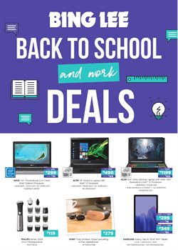 Back To School specials in the Bing Lee catalogue ( 4 days left)