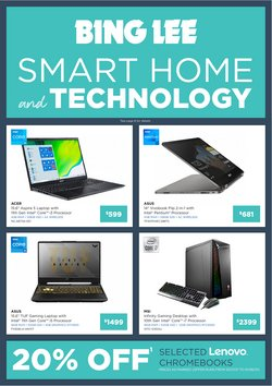 Electronics & Appliances specials in the Bing Lee catalogue ( 2 days left)