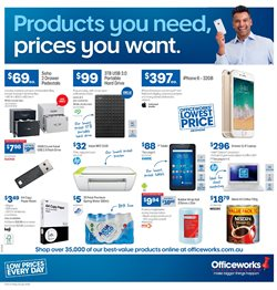 Electronics & Appliances offers in the Officeworks catalogue in Brisbane QLD