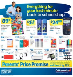 season specials in the Officeworks catalogue ( 8 days left)