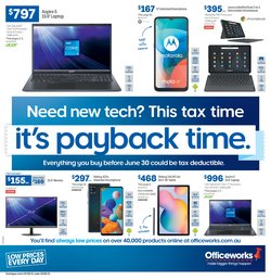 Electronics & Appliances specials in the Officeworks catalogue ( 11 days left)