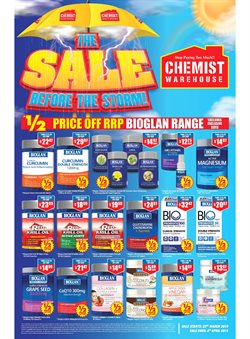 Pharmacy, Beauty & Health offers in the Chemist Warehouse catalogue in Sydney NSW