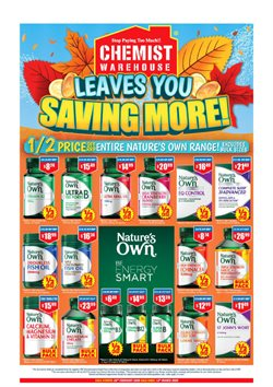 Pharmacy, Beauty & Health offers in the Chemist Warehouse catalogue in Perth WA ( Published today )