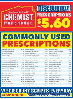 Chemist Warehouse catalogue ( More than one month )