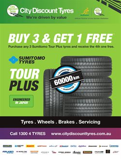 Cars, motorcycles & spares offers in the City Discount Tyres catalogue in Melbourne VIC