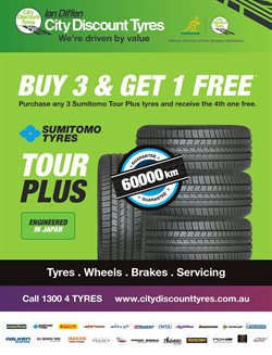 Cars, motorcycles & spares offers in the City Discount Tyres catalogue in Rockingham WA