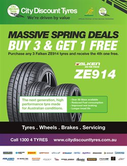Offers from City Discount Tyres in the Melbourne VIC catalogue