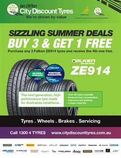 Offers from City Discount Tyres in the Perth WA catalogue
