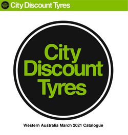 City Discount Tyres catalogue ( Expired )