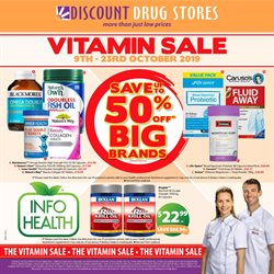 Offers from Discount Drug Stores in the Sydney NSW catalogue