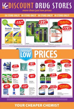 Pharmacy, Beauty & Health specials in the Discount Drug Stores catalogue ( Published today)