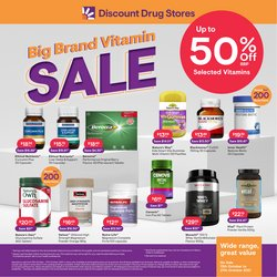 Pharmacy, Beauty & Health specials in the Discount Drug Stores catalogue ( 7 days left)
