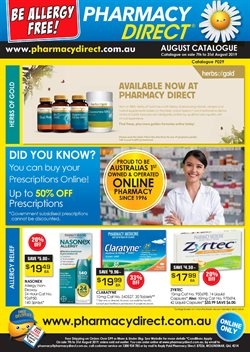 Offers from Pharmacy Direct in the Gold Coast QLD catalogue