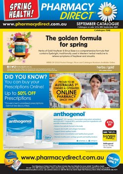 Pharmacy Direct specials in the Pharmacy Direct catalogue ( 6 days left)