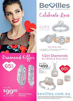 Valentine's Day offers in the Bevilles Jewellery catalogue in Sydney NSW