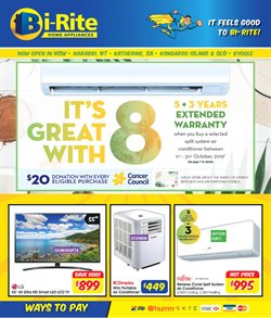 Electronics & Appliances offers in the Bi-Rite catalogue in Roma QLD