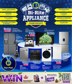 Electronics & Appliances specials in the Bi-Rite catalogue ( 18 days left)