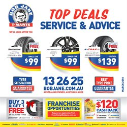 Offers from Bob Jane T-Marts in the Newcastle NSW catalogue