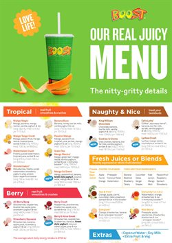 Restaurants offers in the Boost Juice catalogue in Sydney NSW