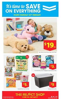 Department Stores offers in the The Reject Shop catalogue in Adelaide SA