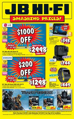 Offers from JB Hi-Fi in the Perth WA catalogue
