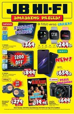 Offers from JB Hi-Fi in the Sunshine Coast QLD catalogue