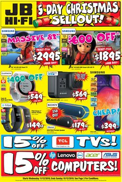Offers from JB Hi-Fi in the Adelaide SA catalogue