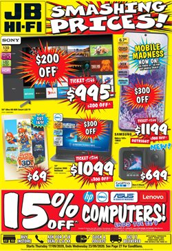 Electronics & Appliances offers in the JB Hi-Fi catalogue ( 3 days left )