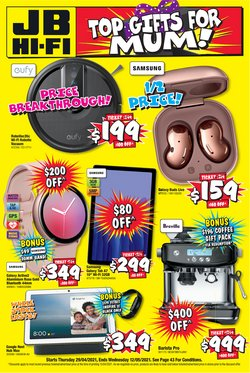 Mother's day specials in the JB Hi-Fi catalogue ( 6 days left)