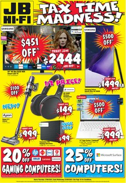 Electronics & Appliances specials in the JB Hi-Fi catalogue ( 4 days left)