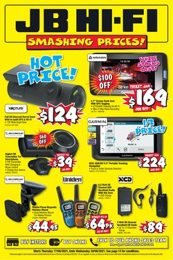 Electronics & Appliances specials in the JB Hi-Fi catalogue ( 11 days left)