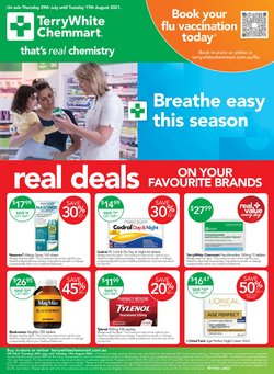 Pharmacy, Beauty & Health specials in the Terry White catalogue ( 15 days left)