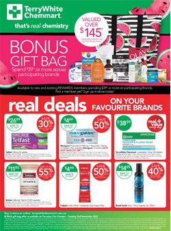 Pharmacy, Beauty & Health specials in the Terry White catalogue ( 10 days left)