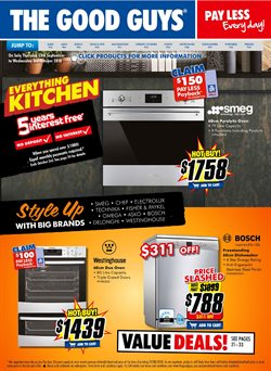 Electronics & Appliances offers in the The Good Guys catalogue in Brisbane QLD