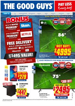 Electronics & Appliances offers in the The Good Guys catalogue in Baldivis WA