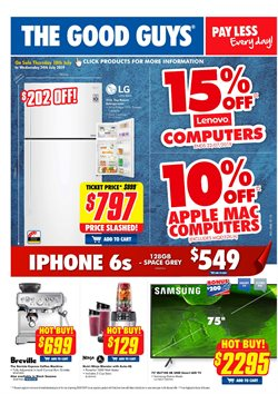 Electronics & Appliances offers in the The Good Guys catalogue in Sydney NSW