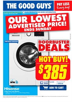 Offers from The Good Guys in the Adelaide SA catalogue