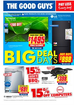 Electronics & Appliances offers in the The Good Guys catalogue ( Expires tomorrow )