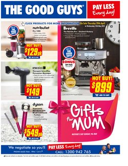 Mother's day specials in the The Good Guys catalogue ( 6 days left)