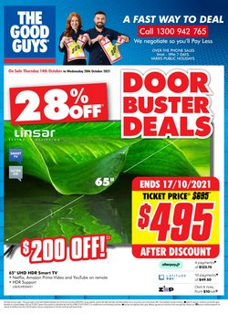 Electronics & Appliances specials in the The Good Guys catalogue ( Expires today)