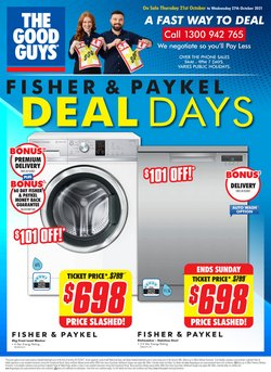 Electronics & Appliances specials in the The Good Guys catalogue ( 2 days left)